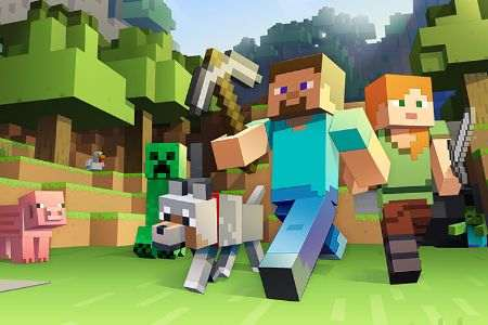 <strong>Minecraft Makers</strong> Minecraft Modding learn JavaScript and change the Minecraft world.
